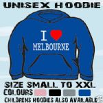 I LOVE HEART MELBOURNE OZ UNISEX HOODIE HOODED TOP